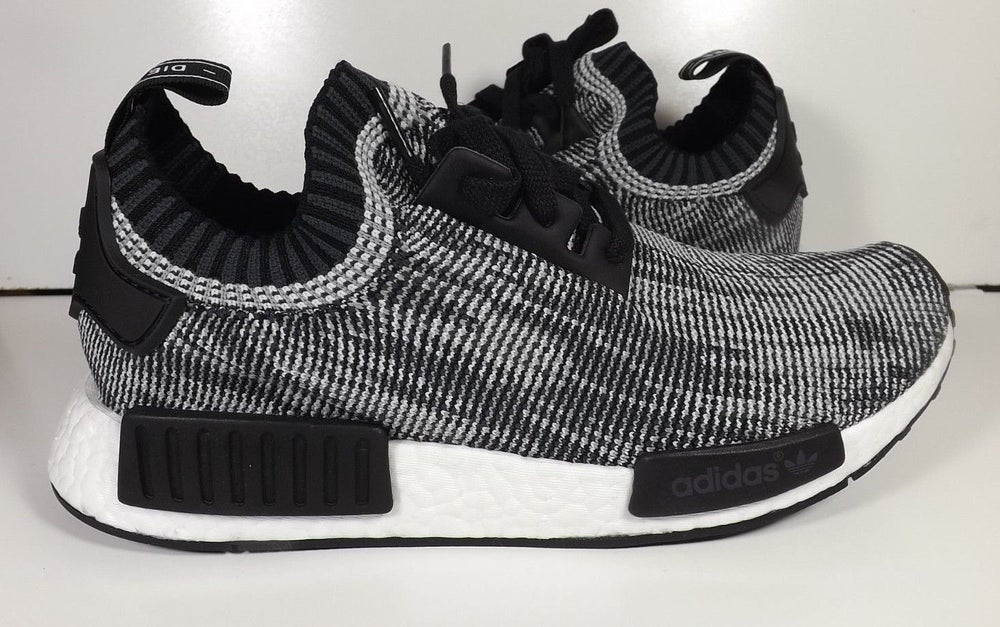 aac7202c508cc Image of Adidas Nmd Runner Primeknit R1 PK Core Black White Grey S79478. ADIDAS  ORIGINAL RUNNER BOOST PRIMEKNIT GRAPHIC