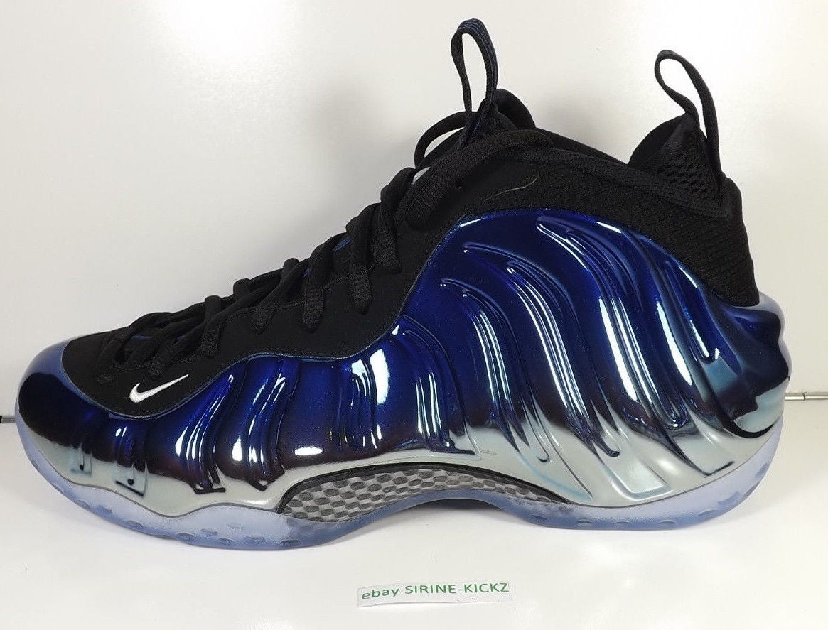 "Image of NIKE AIR FOAMPOSITE ONE PREMIUM ""BLUE MIRROR"" (575420-008)"