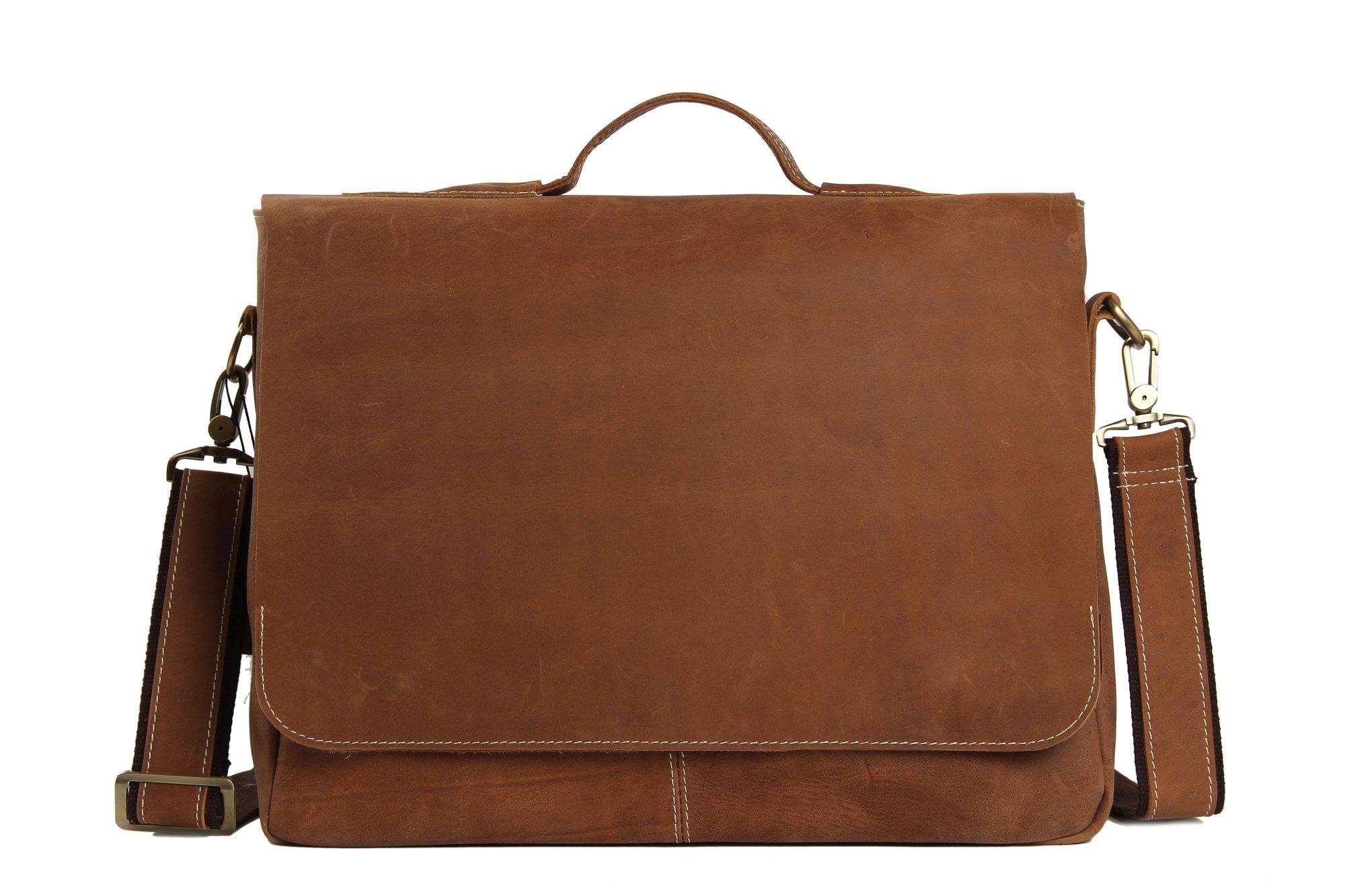 736eed1157c0e MoshiLeatherBag - Handmade Leather Bag Manufacturer — 14   Vintage Leather  Briefcase Messenger Bag