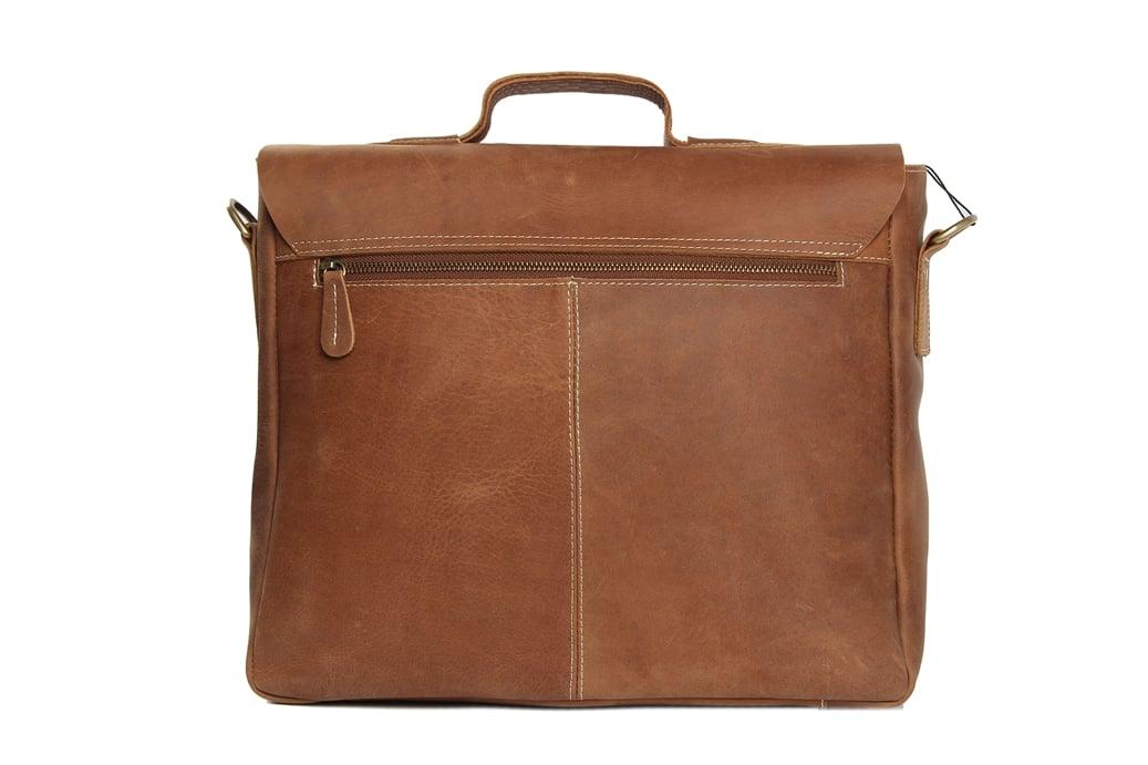Image Of 14 Vintage Leather Briefcase Messenger Bag Laptop Men S