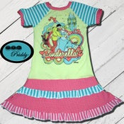 Image of **SOLD OUT** Cinderella & Prince double ruffle Dress - size 9/10