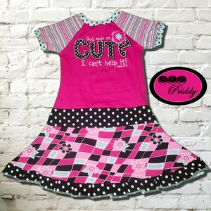 Image of **SOLD OUT** God Made Me Cute I Can't Help It Twirl Dress - size 7/8