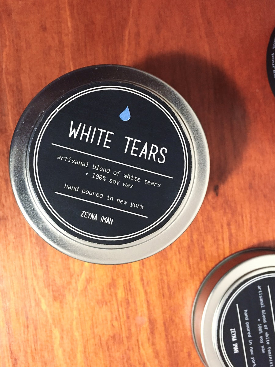 Image of 4 oz White Tears Tin Candle