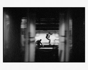 Image of connor kammerer - nollie crooked grind - pigment print