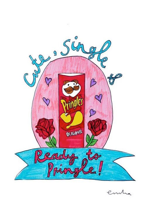 Image of Cute, Single and Ready to Pringle Card