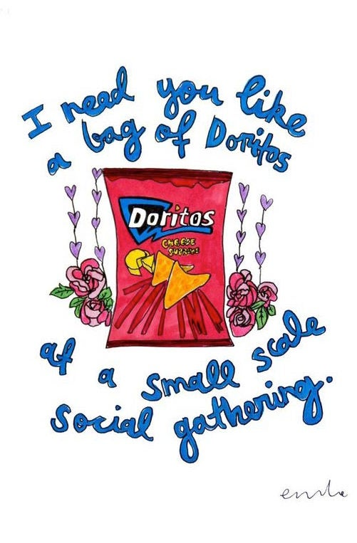 Image of You're My Bag of Doritos Card