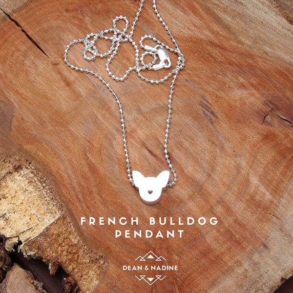Image of French Bulldog Necklace | Sterling Silver