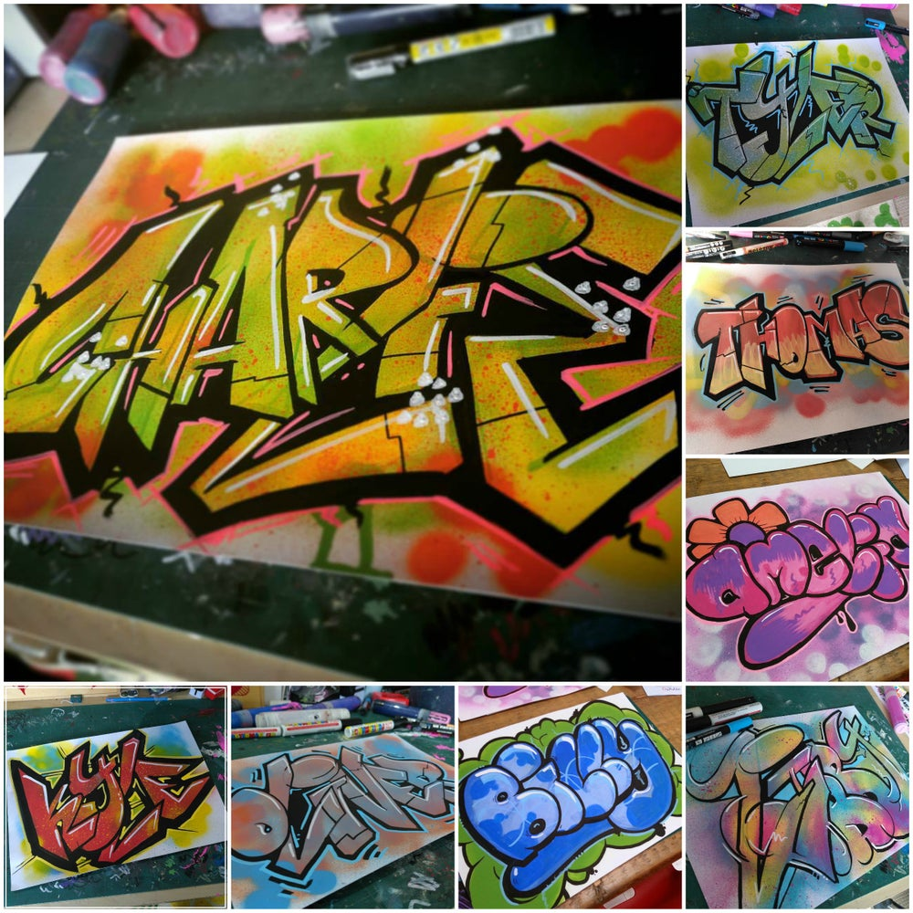 Image of GRAFFITI ART :: A3 NAME SKETCH