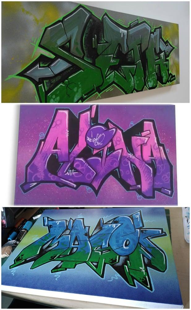 Image of GRAFFITI ART :: NAME CANVAS