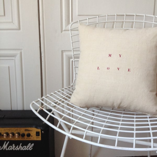 Image of coussin écru my love