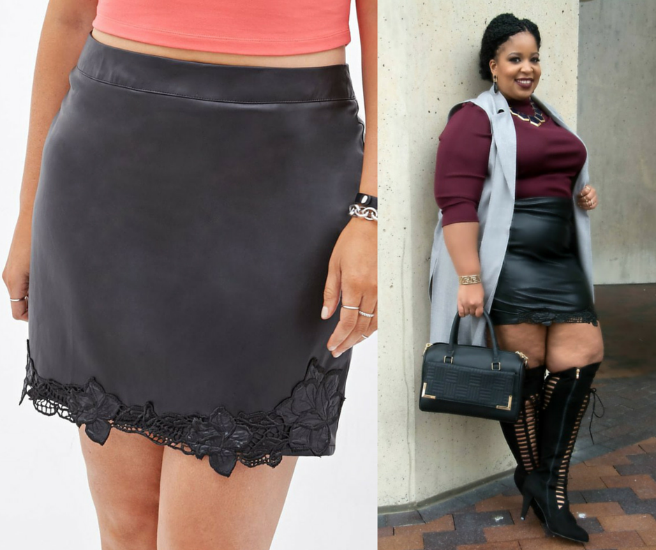 Image of Forever 21 Leather Skirt