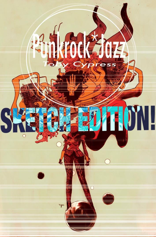 Image of PUNKROCK*JAZZ book with ORIGINAL INK DRAWING