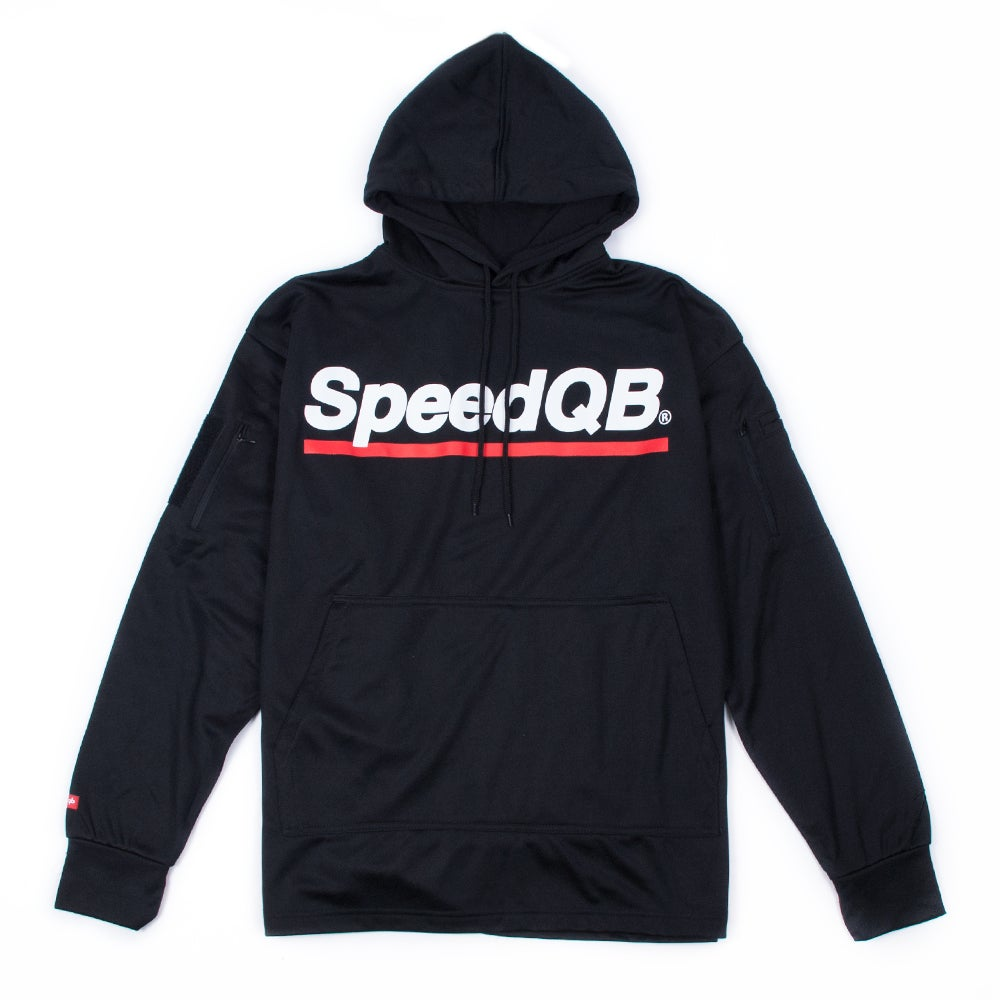 Image of SpeedQB Tech Hoodie (Black/Red)