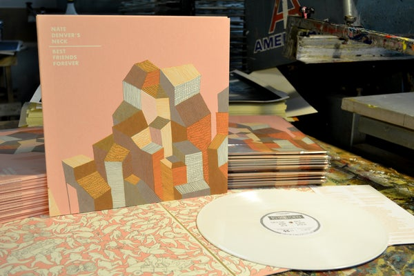 Image of Nate Denver's Neck / Best Friends Forever Split LP (LL-LP-001) • Vinyl Record (White)