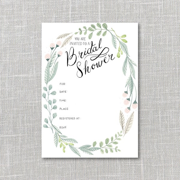 image of bridal shower invitation printable instant download pdf