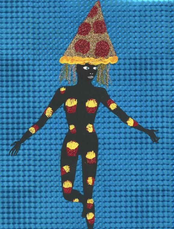Image of A Woman Practicing Fervent Escapism (PIZZA HEAD)