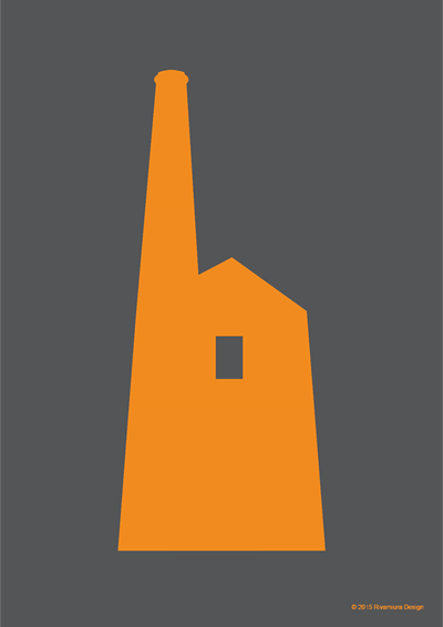 Image of Prussia Cove Tin Mine Orange