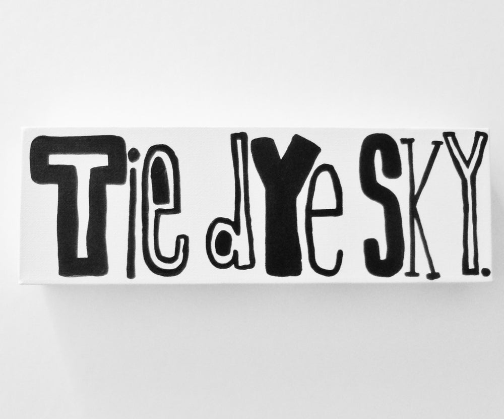 "Image of tiE dYe SkY. - 4"" X 12"""
