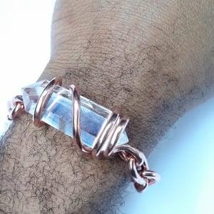 Image of Double Terminated Set Quartz Crystal Bracelet