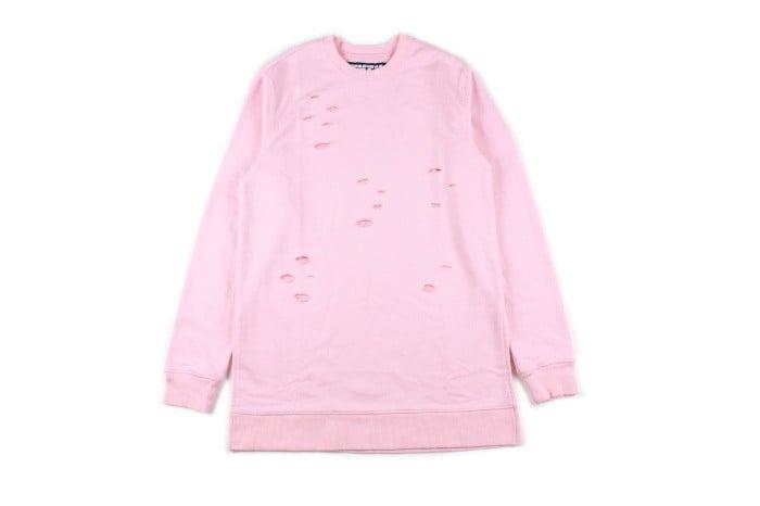 Image of Baby Pink // Distressed Sweatshirt