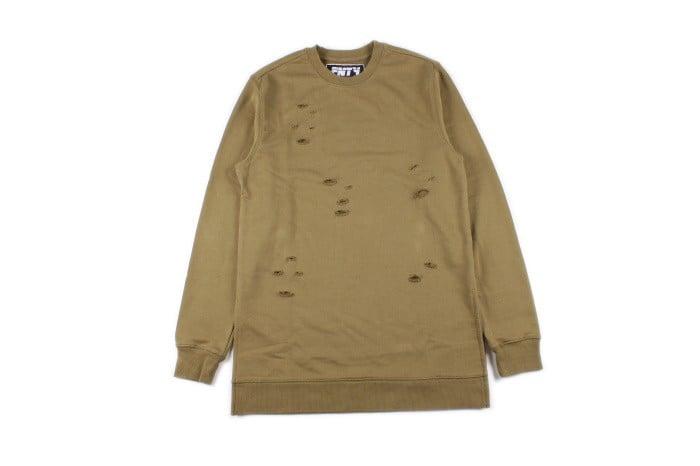 Image of Olive // Distressed Sweatshirt