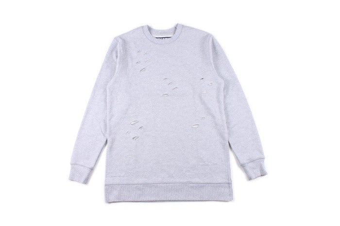 Image of Grey // Distressed Sweatshirt