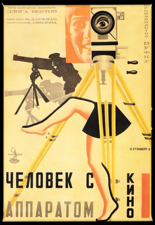 "Image of First Documentary Film Ever Made. 1922 ""Man With A Movie Camera."" By Dziga Vertov."
