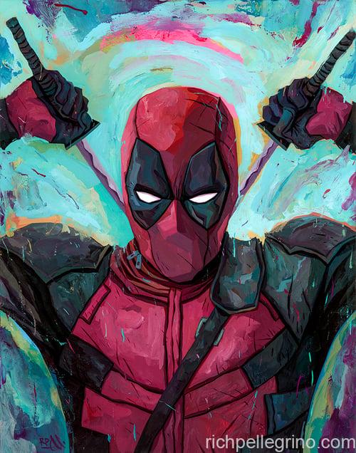 Image of Deadpool Original Painting