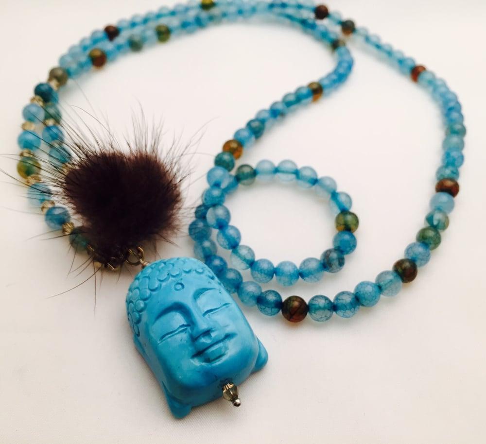 Image of Blue Buddah Kette