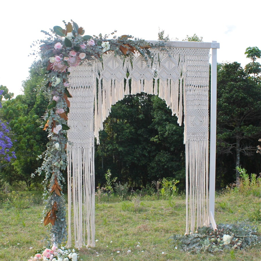 Image of L'amour Macrame and Wooden Arbour (local hire)