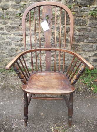 Image of Antique Low Back Windsor Chair