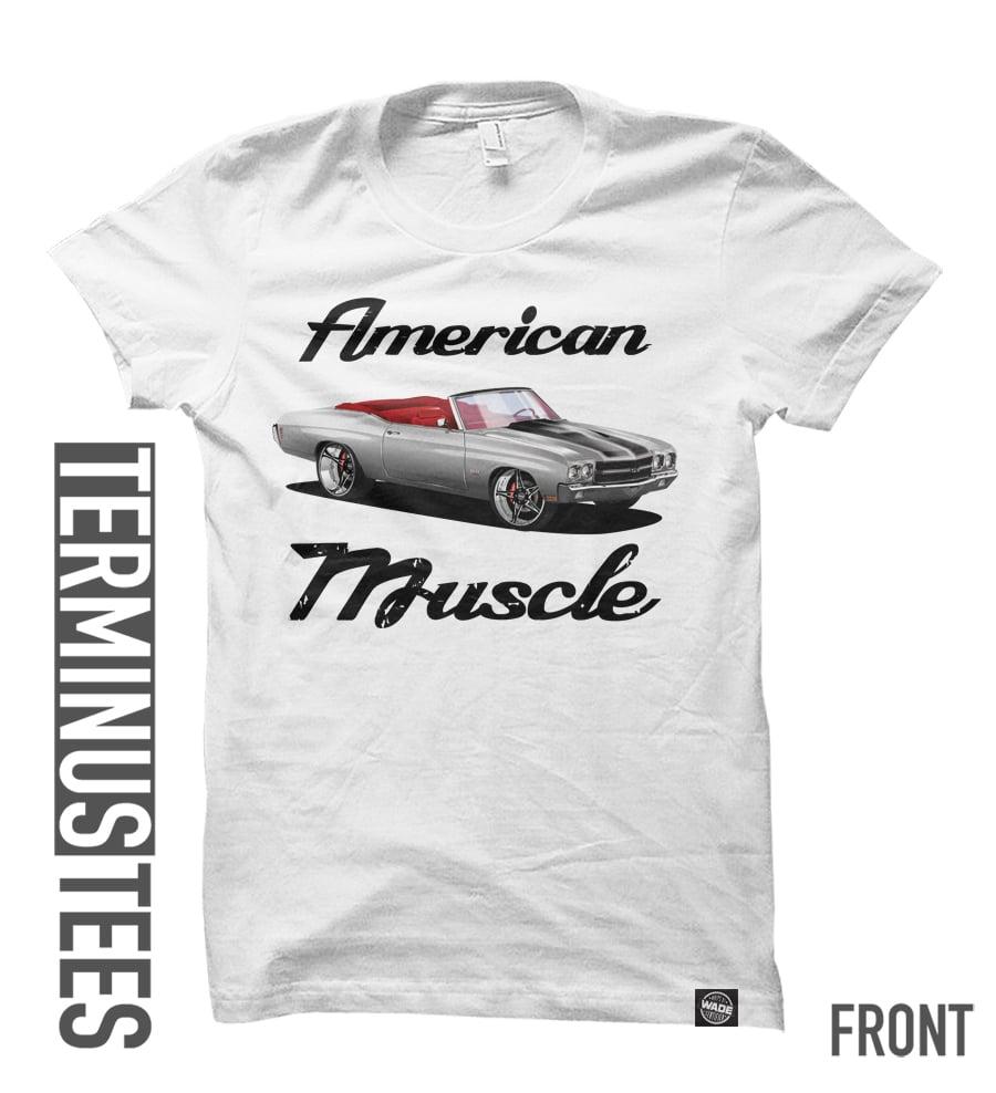 American Muscle Tee - White