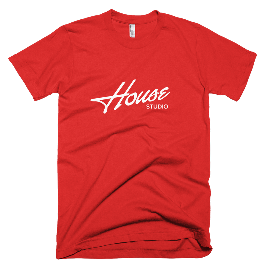 Image of White on Red Tee
