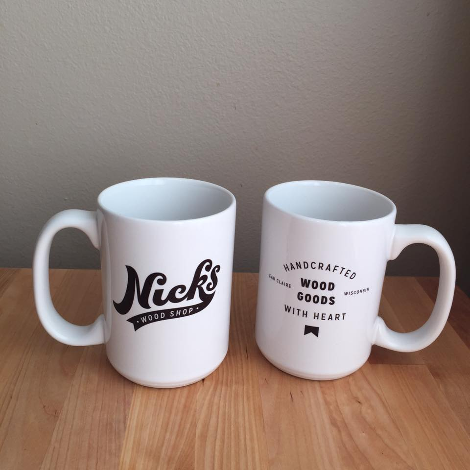 Image of Nick's Wood Shop coffee mug