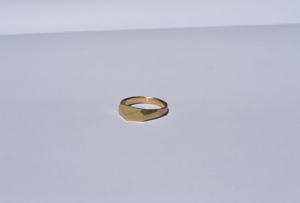 Image of Gold Slab Ring