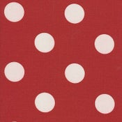 Image of FF Red and White Polka Dot Outdoor Fabric
