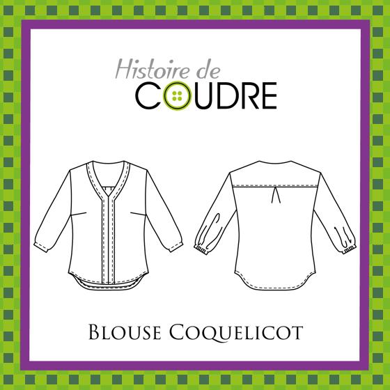 Image of Blouse Coquelicot - Patron pochette