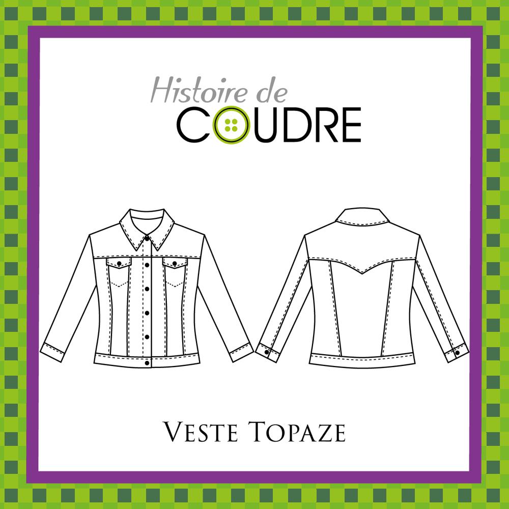Image of Veste Topaze - Patron pochette