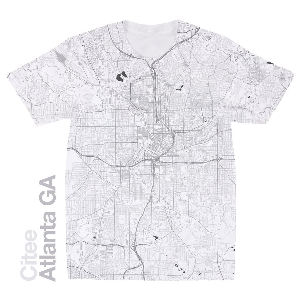 Image of Atlanta GA map t-shirt