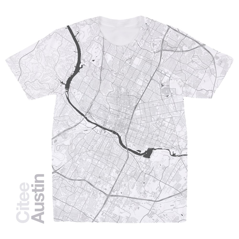 Image of Austin TX map t-shirt