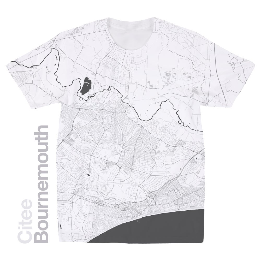 Image of Bournemouth map t-shirt