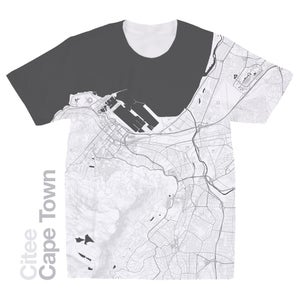 Image of Cape Town map t-shirt