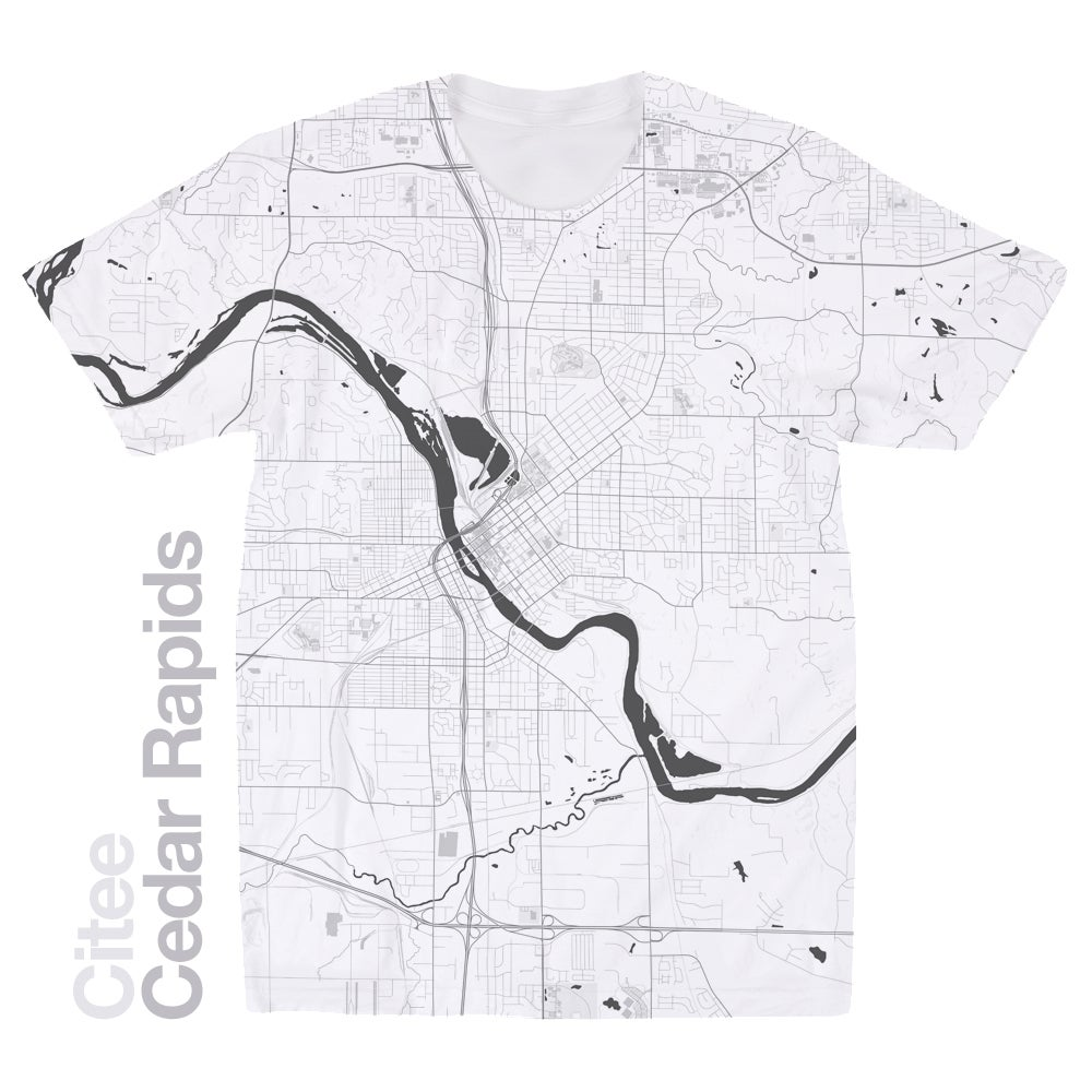 Citee Fashion Cedar Rapids IA map tshirt