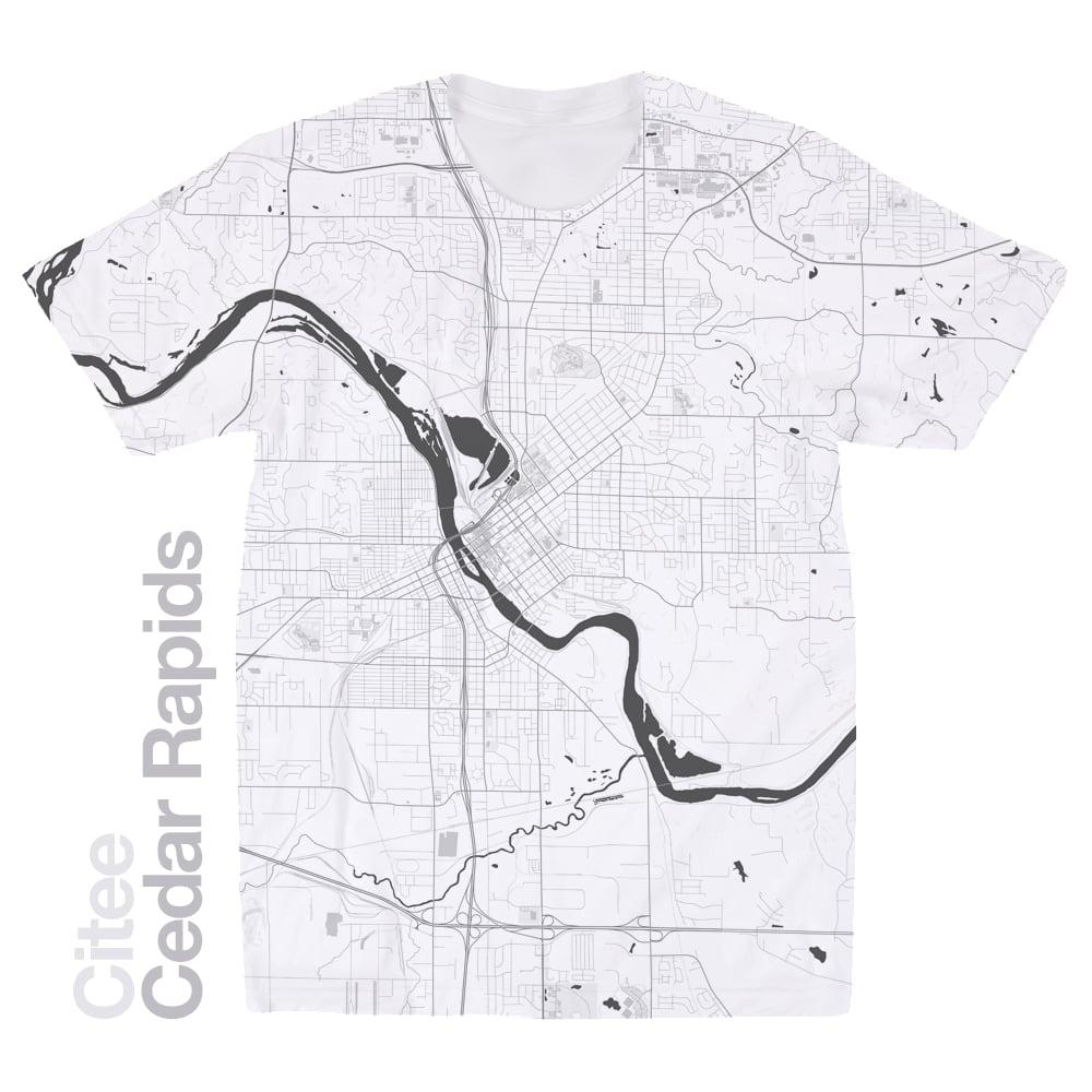 Citee Fashion | Cedar Rapids IA map t-shirt on