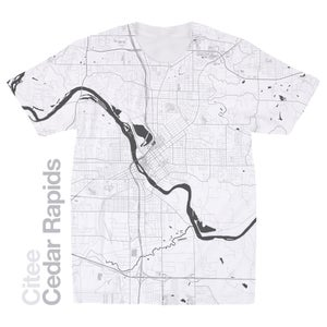 Image of Cedar Rapids IA map t-shirt