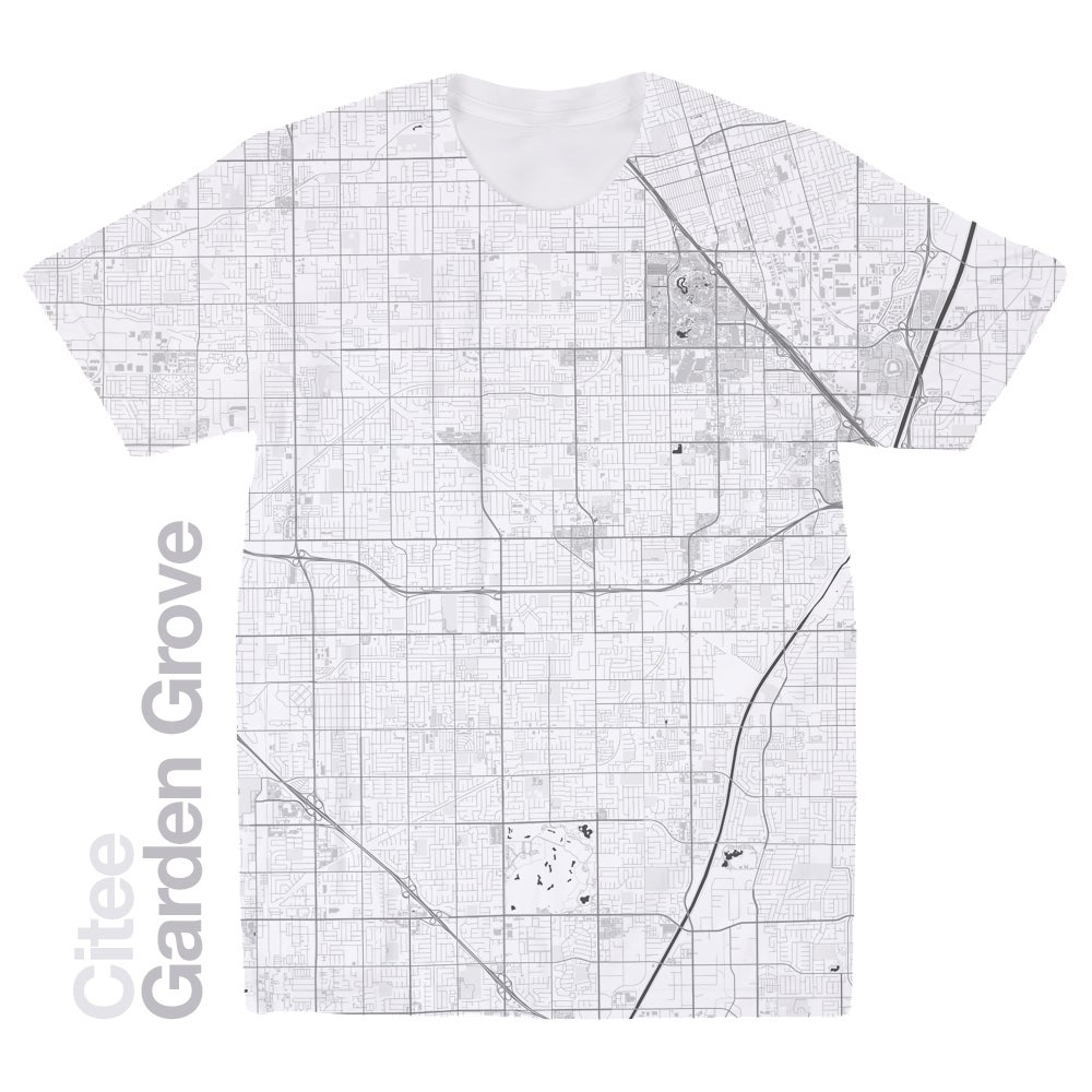 Image of Garden Grove CA map t-shirt