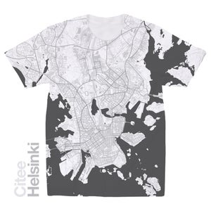 Image of Helsinki map t-shirt