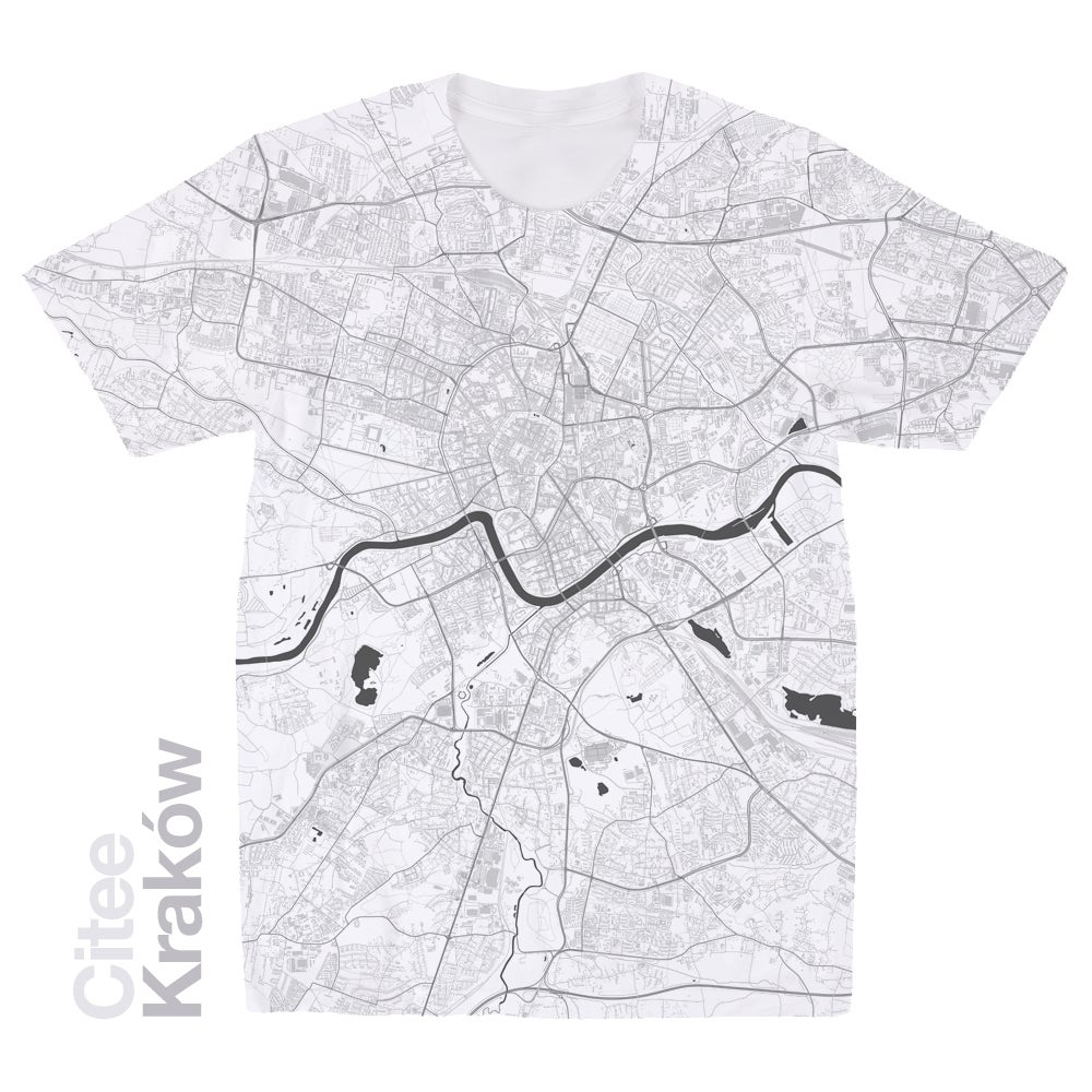 Image of Kraków map t-shirt