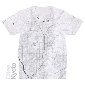 Image of Kyoto map t-shirt