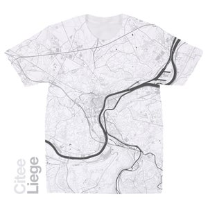 Image of Liege map t-shirt